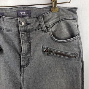 NYDJ Alina Grey Legging with Zipper Details